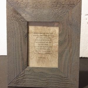 """Other - Rustic Grey Barn Wood Frame 11""""x13""""w/Quote"""